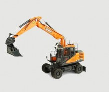 UH8134_Universal_Hobbies_ DOOSAN_DX160W_WHEELED_EXCAVATOR_WITH_TILTING_AND_CLAMSH_1