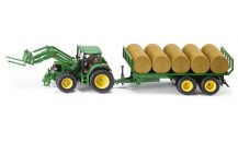 siku_3862_John Deere 6920 Tractor with Front Loader and Bale Trailer